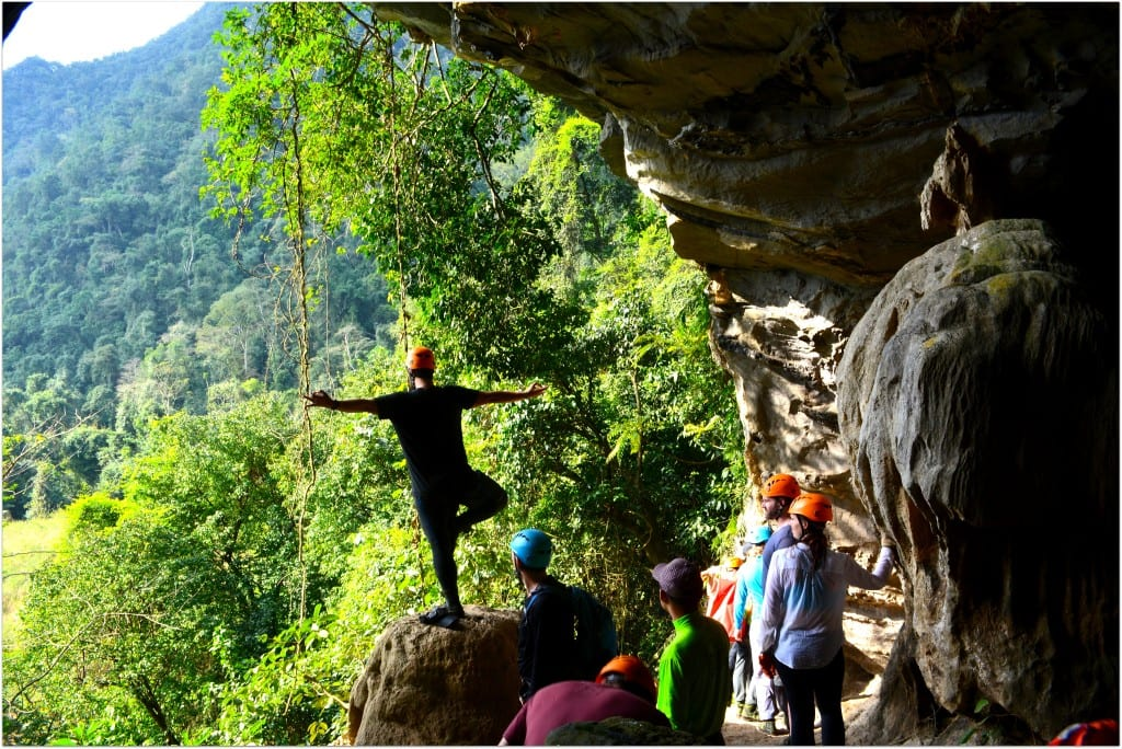 Yoga in phong nha caves