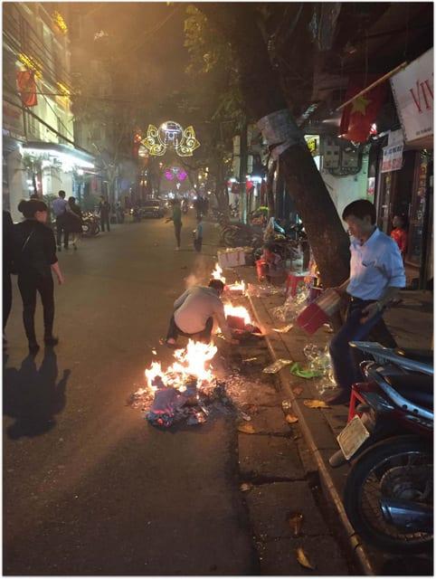 fires burning Tet Hanoi