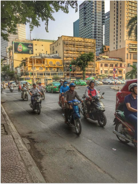 Light traffic in Saigon