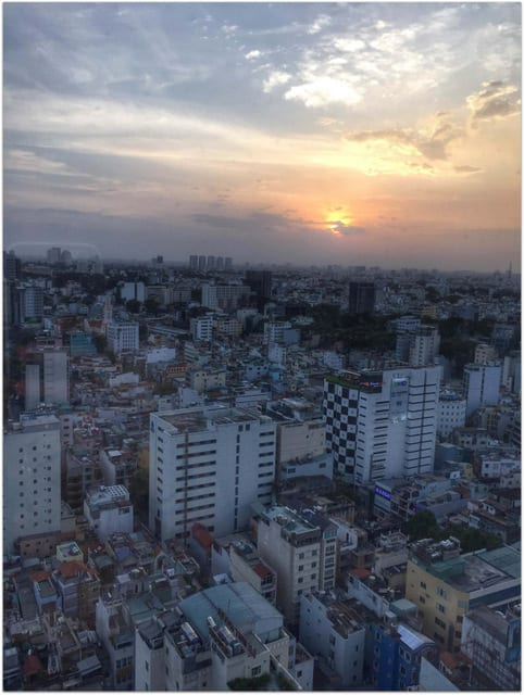Saigon sunset city skyline