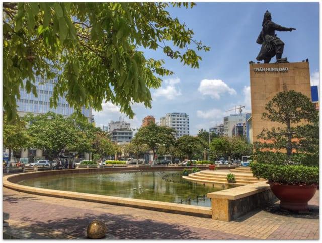 Tran Hung Dao statue Saigon