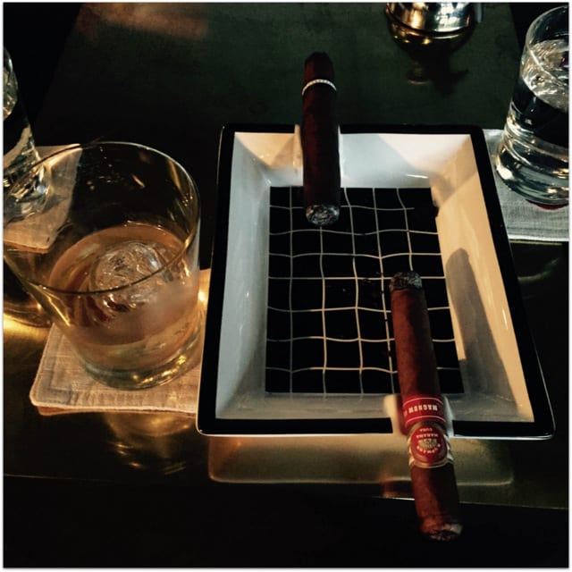 whiskey and Cuban Cigars