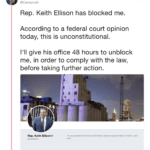 Congressman Ellison Unblocks Cernovich from Twitter after Lawsuit was Prepared for Filing